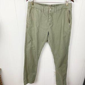Life After Denim Olive Weekend Slim Chino Pants 34